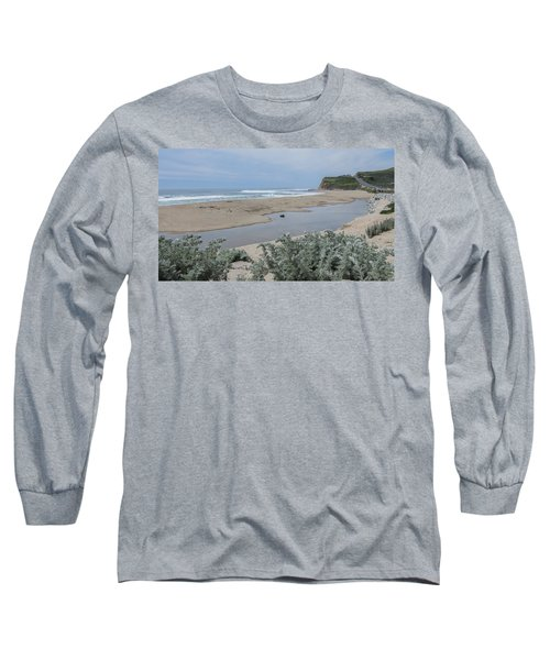 Where Scott Creek Meets The Ocean Long Sleeve T-Shirt