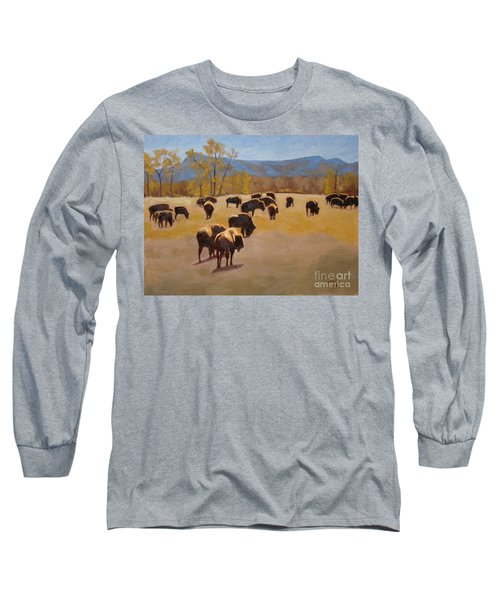 Where The Buffalo Roam Long Sleeve T-Shirt