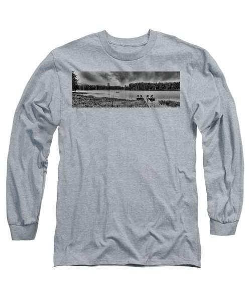 Long Sleeve T-Shirt featuring the photograph Where To View Twin Ponds by David Patterson