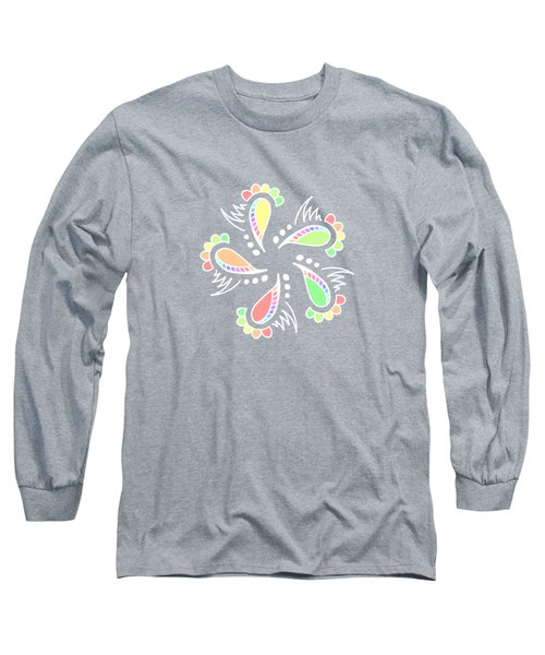Whimsical Abstract Flower Long Sleeve T-Shirt