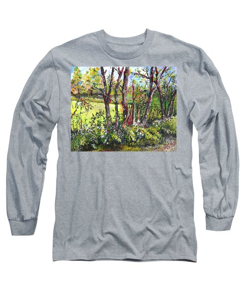 White And Yellow - An Unusual View Long Sleeve T-Shirt