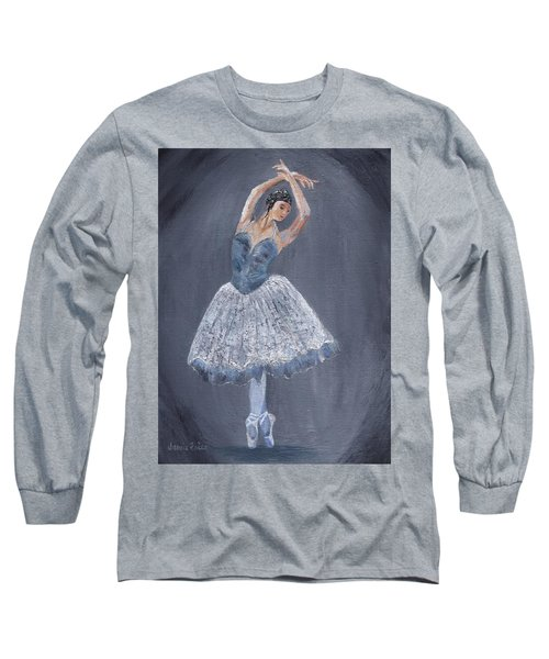 Long Sleeve T-Shirt featuring the painting White Ballerina by Jamie Frier