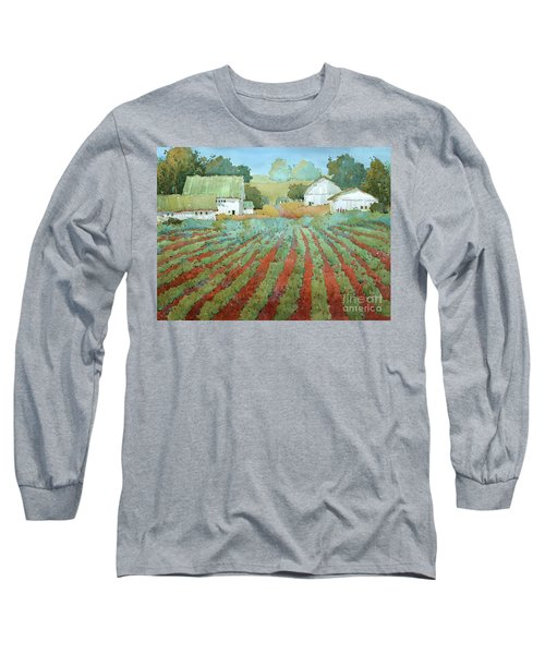 White Barns In Virginia Long Sleeve T-Shirt