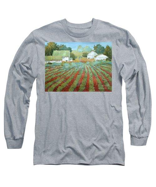 White Barns In Virginia Long Sleeve T-Shirt