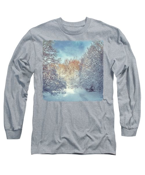 White Blanket - Winter Landscape Long Sleeve T-Shirt