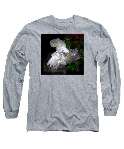 White Blossoms Long Sleeve T-Shirt by Robert Och