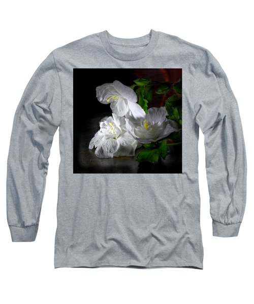 White Blossoms Long Sleeve T-Shirt