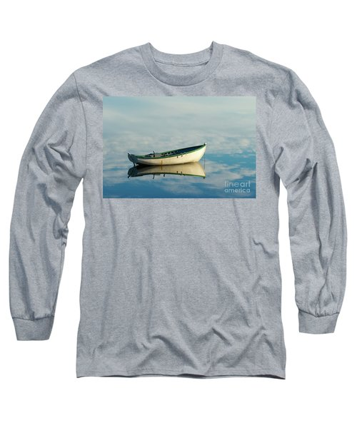 White Boat Reflected Long Sleeve T-Shirt