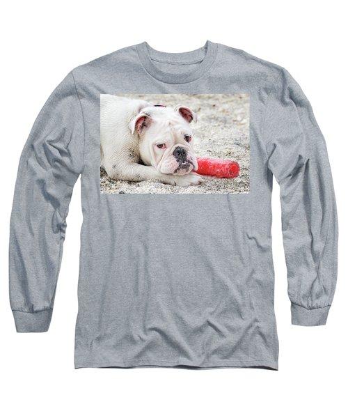 White Bull Dog Long Sleeve T-Shirt