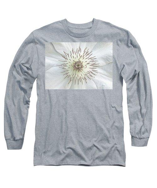 White Clematis Flower Garden 50121b Long Sleeve T-Shirt