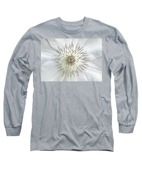 White Clematis Flower Garden 50121b Long Sleeve T-Shirt