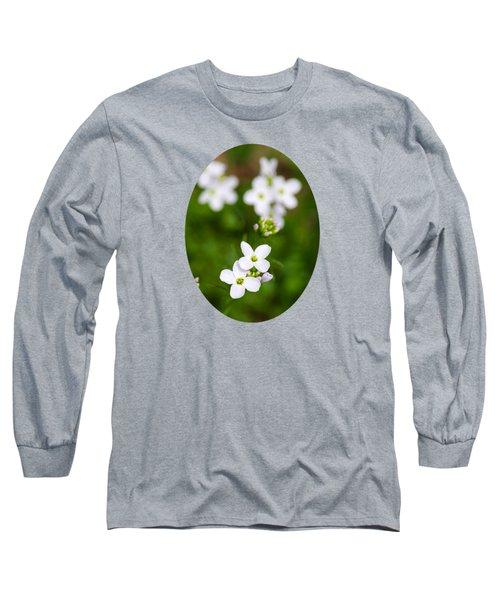 White Cuckoo Flowers Long Sleeve T-Shirt