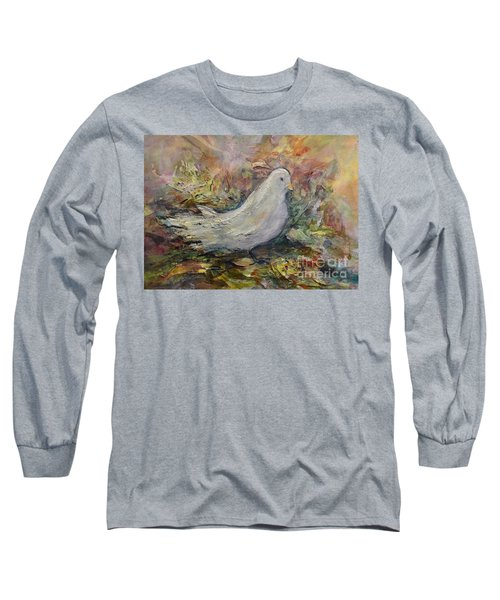 White Dove Long Sleeve T-Shirt by Ellen Anthony