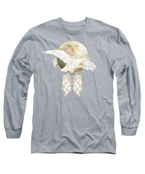 Long Sleeve T-Shirt featuring the mixed media White Eagle Dreams by Carol Cavalaris