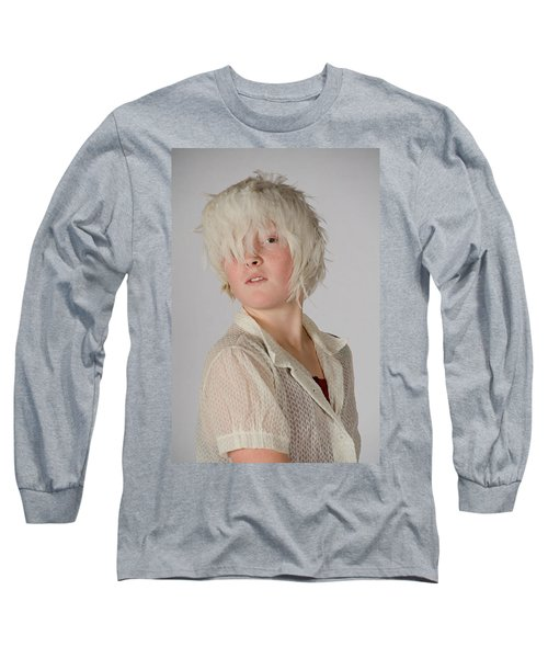 White Feather Wig Girl Long Sleeve T-Shirt