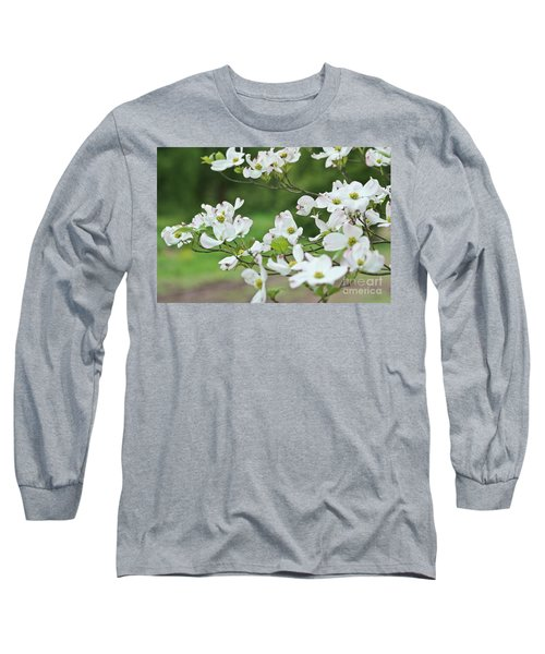 White Flowering Dogwood Long Sleeve T-Shirt