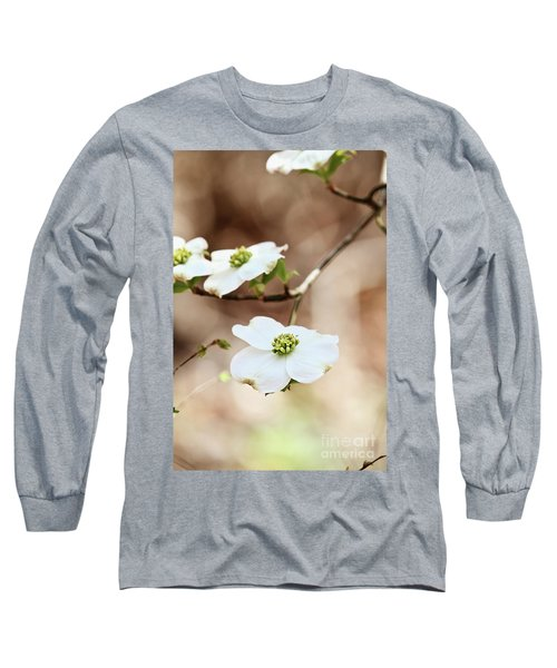 Long Sleeve T-Shirt featuring the photograph White Flowering Dogwood Tree Blossom by Stephanie Frey