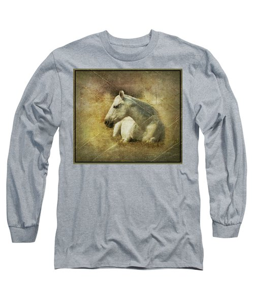 White Horse Art Long Sleeve T-Shirt