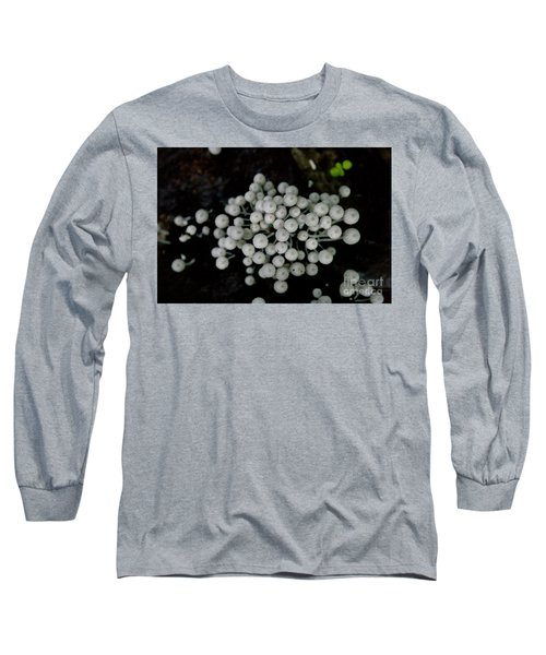 White Manoa Mushrooms Long Sleeve T-Shirt