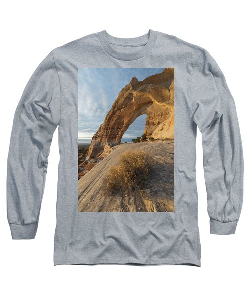 White Mesa Arch Long Sleeve T-Shirt by Dustin LeFevre
