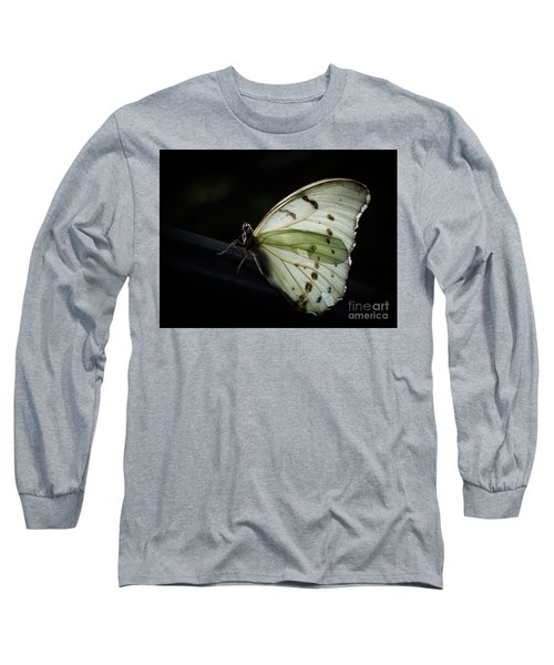 White Morpho In The Moonlight Long Sleeve T-Shirt