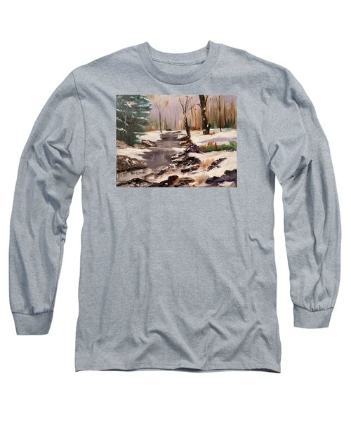 White Mountains Creek Long Sleeve T-Shirt by Larry Hamilton