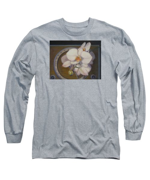 White Orchids Long Sleeve T-Shirt by Donelli  DiMaria