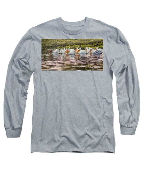 White Pelican Parade Long Sleeve T-Shirt
