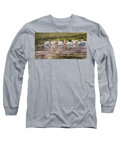 White Pelican Parade Long Sleeve T-Shirt