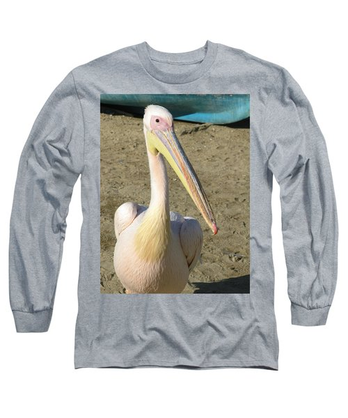 Long Sleeve T-Shirt featuring the photograph White Pelican by Sally Weigand