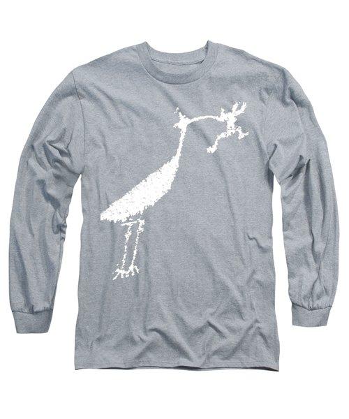 White Petroglyph Long Sleeve T-Shirt