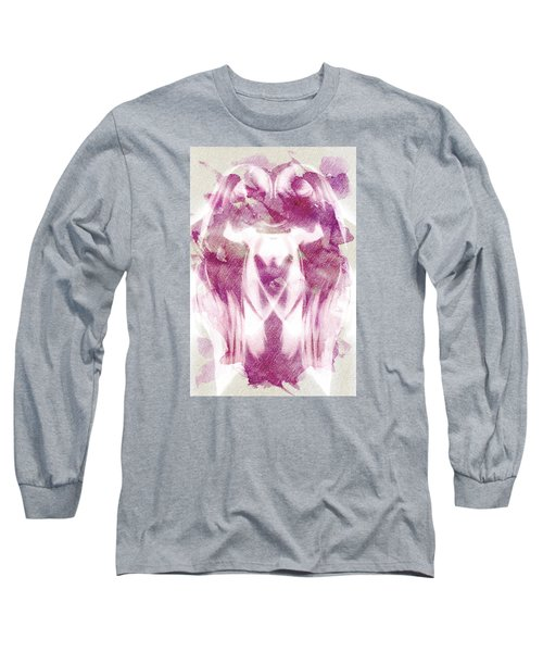 Long Sleeve T-Shirt featuring the digital art White Pi Flower by Andrea Barbieri