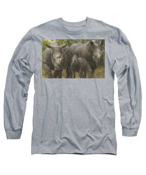 White Rhino Family - The Face That Only A Mother Could Love Long Sleeve T-Shirt