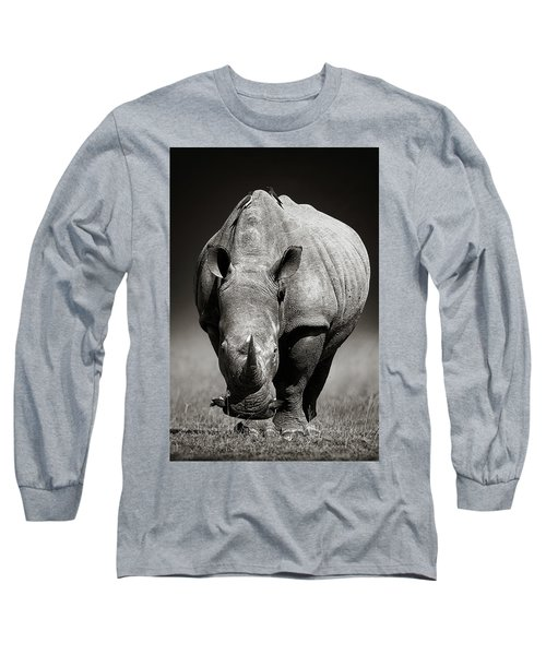 White Rhinoceros  In Due-tone Long Sleeve T-Shirt