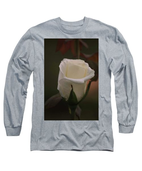 Long Sleeve T-Shirt featuring the photograph White Rose by Donna G Smith