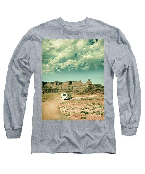Long Sleeve T-Shirt featuring the photograph White Rv In Utah by Jill Battaglia