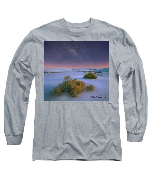 White Sands Starry Night Long Sleeve T-Shirt by Tim Fitzharris