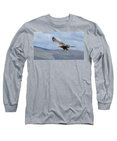 White-tailed Eagle On Mull Long Sleeve T-Shirt