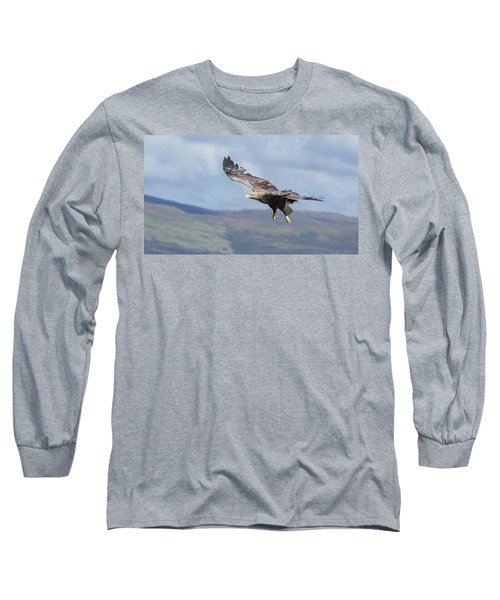 White-tailed Eagle On Mull Long Sleeve T-Shirt
