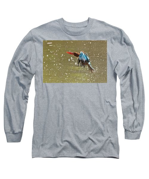 White-throated Kingfisher Long Sleeve T-Shirt
