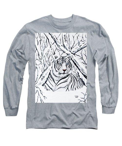 White Tiger Blending In Long Sleeve T-Shirt