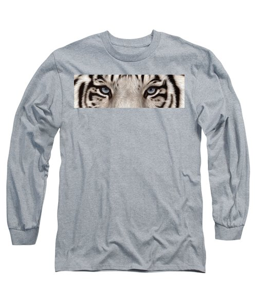 White Tiger Eyes Long Sleeve T-Shirt