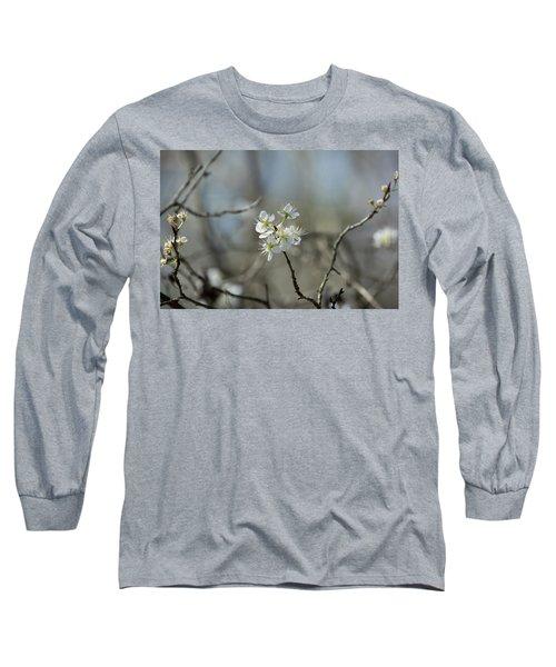 White Tree Bud Long Sleeve T-Shirt