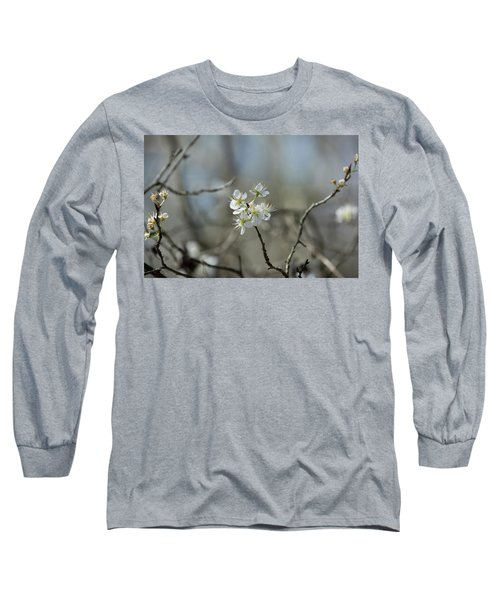 White Tree Bud Long Sleeve T-Shirt