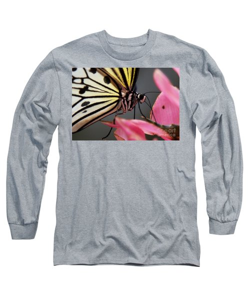 White Tree Nymph Butterfly Long Sleeve T-Shirt