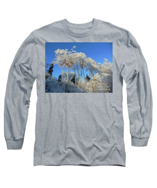 Long Sleeve T-Shirt featuring the photograph White Trees Clear Skies by Rockin Docks