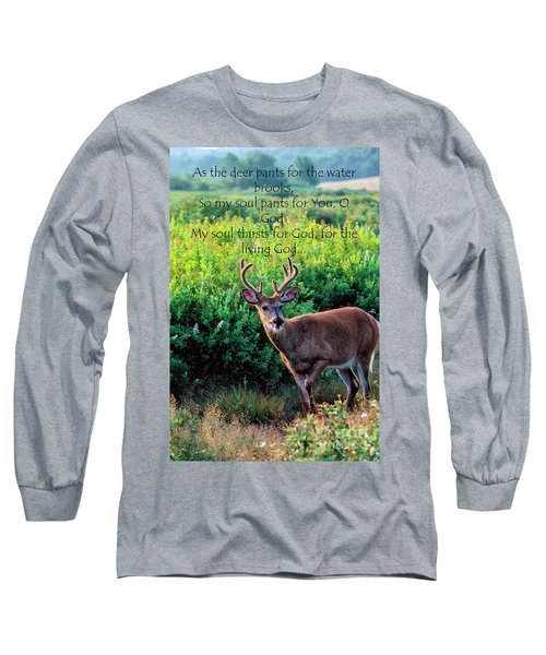 Long Sleeve T-Shirt featuring the photograph Whitetail Deer Panting by Thomas R Fletcher