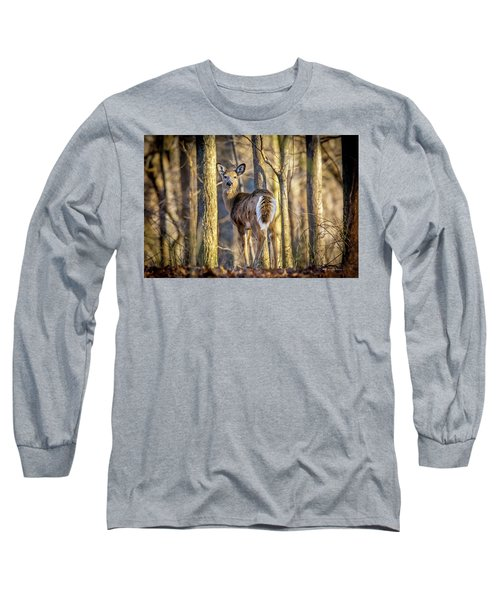 Whitetail Winter Morning Long Sleeve T-Shirt