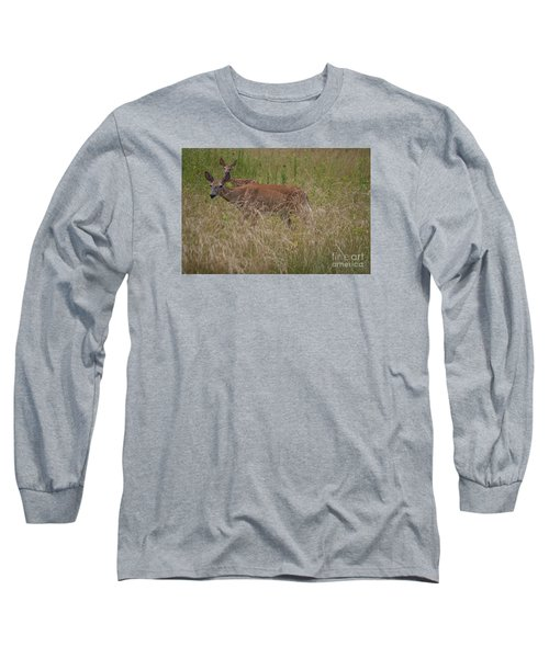 Long Sleeve T-Shirt featuring the photograph Whitetail With Fawn 20120707_09a by Tina Hopkins