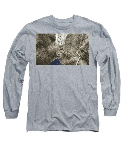 Whitewater Blu Long Sleeve T-Shirt by Jan W Faul
